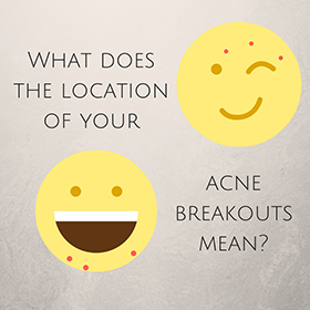 What does the location of your acne breakouts mean?